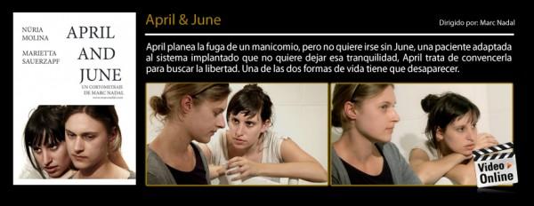 April and June opta a los Premios Oriana en el Festival de Cortometrajes de Sant Andreu de la Barca (Barcelona)
