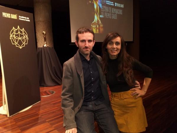 Azahara Moyano y Marc Nadal en los Premios Gaudi