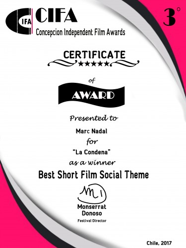 Best Social Theme. CIFA - Concepción Independent Film Awards (Chile).