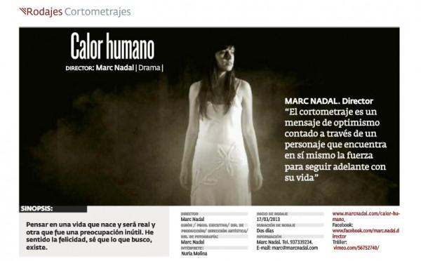ACADEMIA revista oficial de la Academia del cine español Calor humano