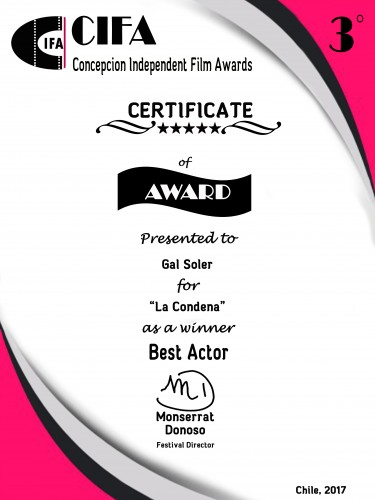 Best Actor. CIFA - Concepción Independent Film Awards (Chile).