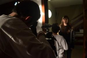 """Marc Nadal, Marc Aguilar y Nuria Molina en el cortometraje """"Ciudadanos"""""""