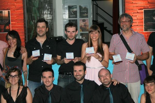 Marc Nadal junto a Núria Molina en los premios Festival de Cine