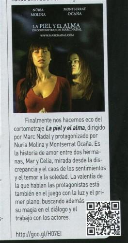 Critica La piel y el alma Marc Nadal en la revista de Cine Acción
