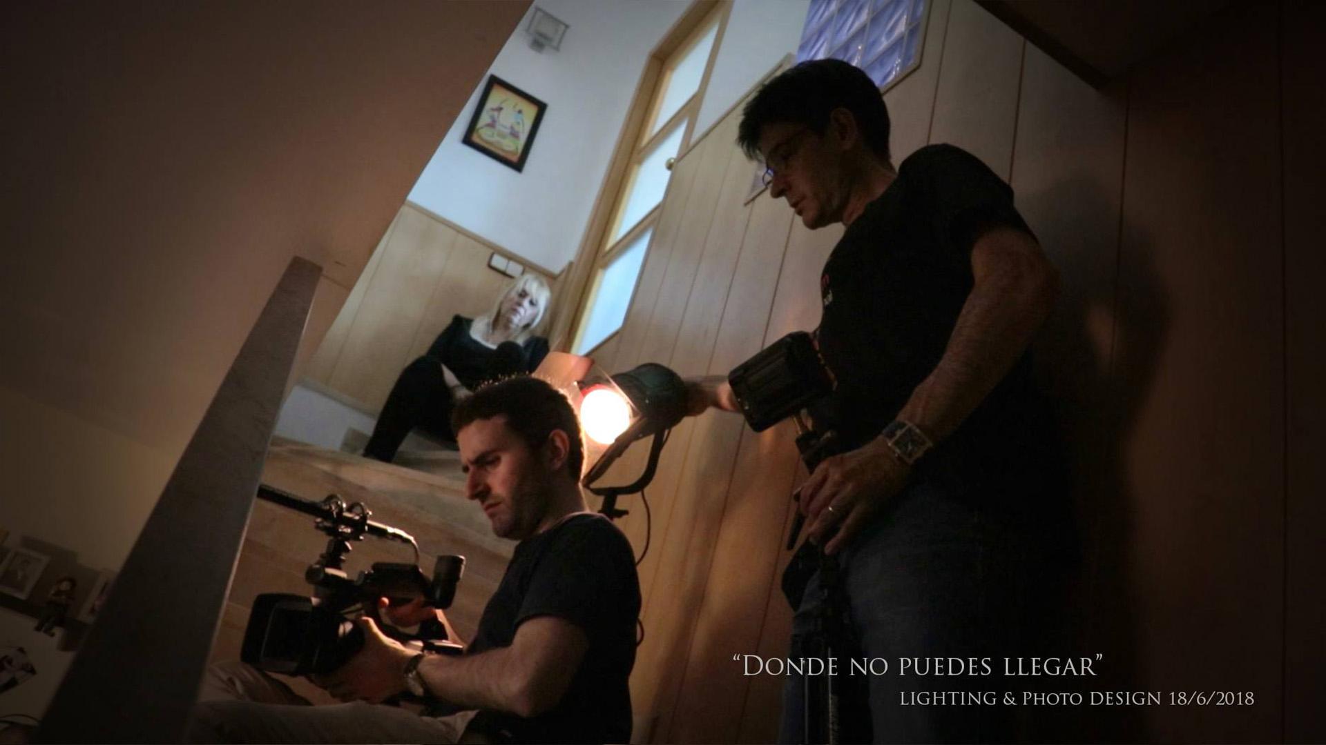 """Fotografías del rodaje """"Donde no puedes llegar""""."""