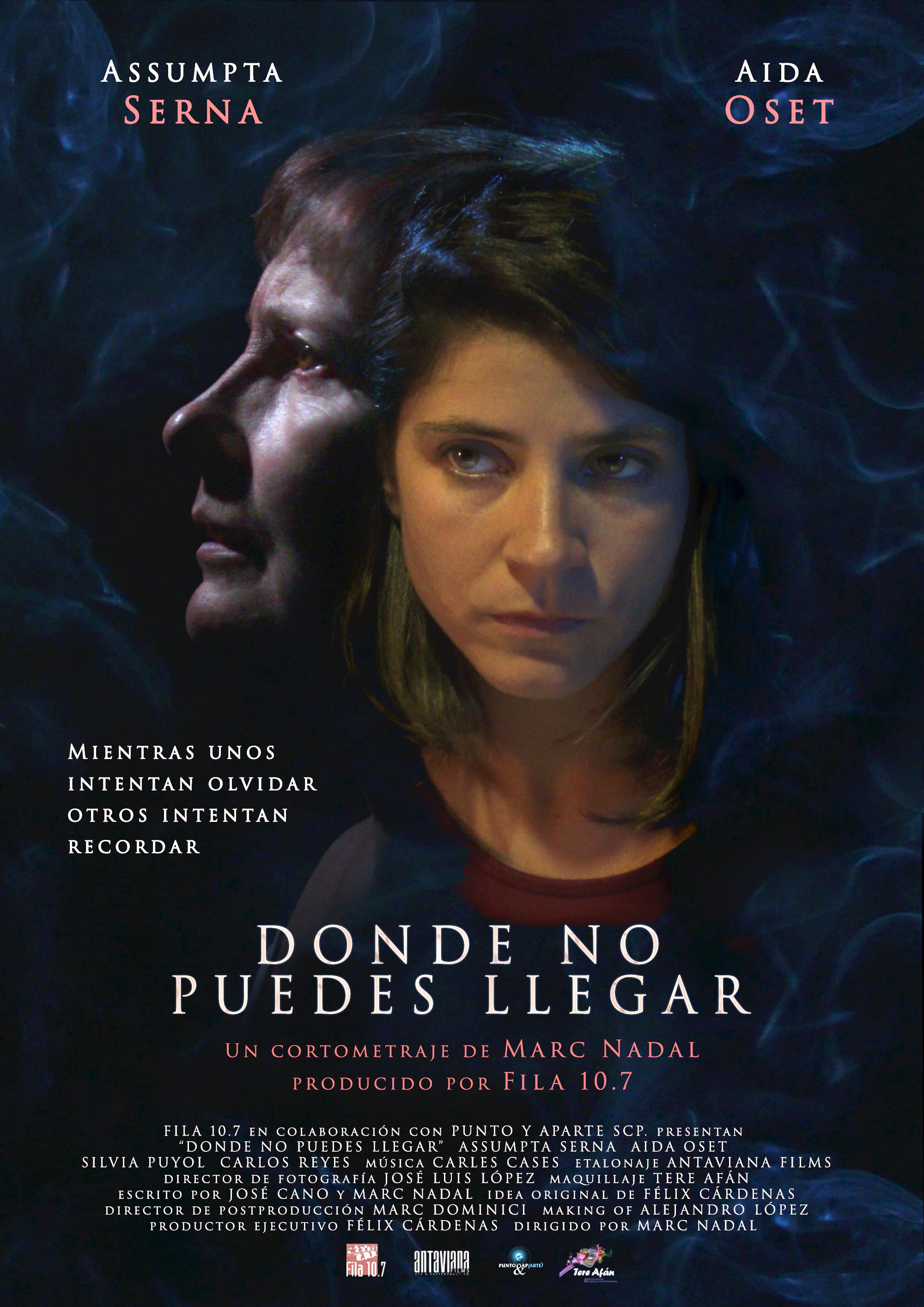 Donde no puedes llegar cortometraje de Marc Nadal con Assumpta Serna y Aida Oset Alzheimer