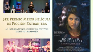 """""""Donde no puedes llegar"""" 3r Premio Mejor Película de Ficción Extranjera en el 10º International Youth Film Festival Light to the World (Rusia)."""