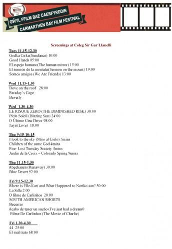 Sección Oficial de Carmarthen Bay Film Festival