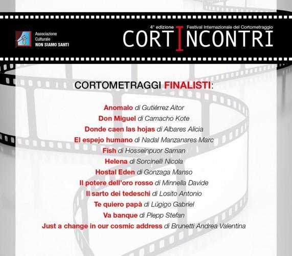 """""""El espejo humano"""" Premio Mejor Actriz: Anna Castillo, en el 2º Festival Internacional CortIncontri 2016 (Italia)."""