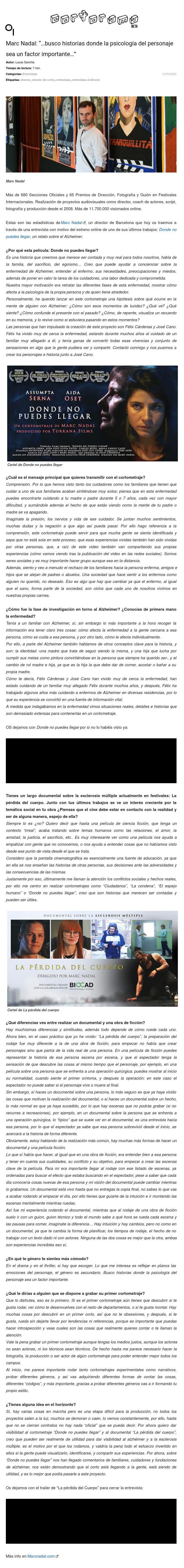 Entrevista Cortorama
