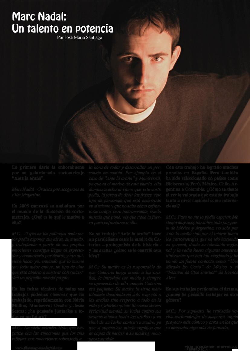Entrevista a Marc Nadal Febrero Film Magazine Digital