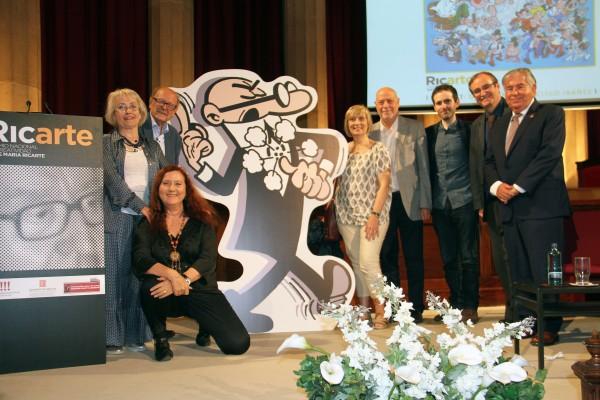 Gala Premios Ricarte con Marta González Peláez, Francisco Ibañez, María Luisa Pujol Canals, Marc Nadal, Josep M Queralto Antaviana Films