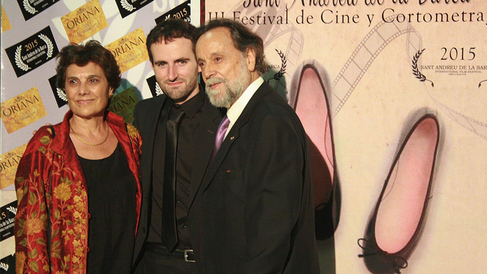 """Pepa Lopéz recibe el premio a la Mejor Actriz por """"La Condena"""" en los Premios Oriana del Festival de Cine de Sant Andreu de la Barca (Barcelona)."""