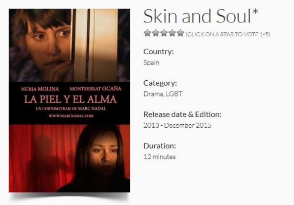 """""""La piel y el alma"""" Sección Oficial del TMFF International Film Festival (United Kingdom)."""