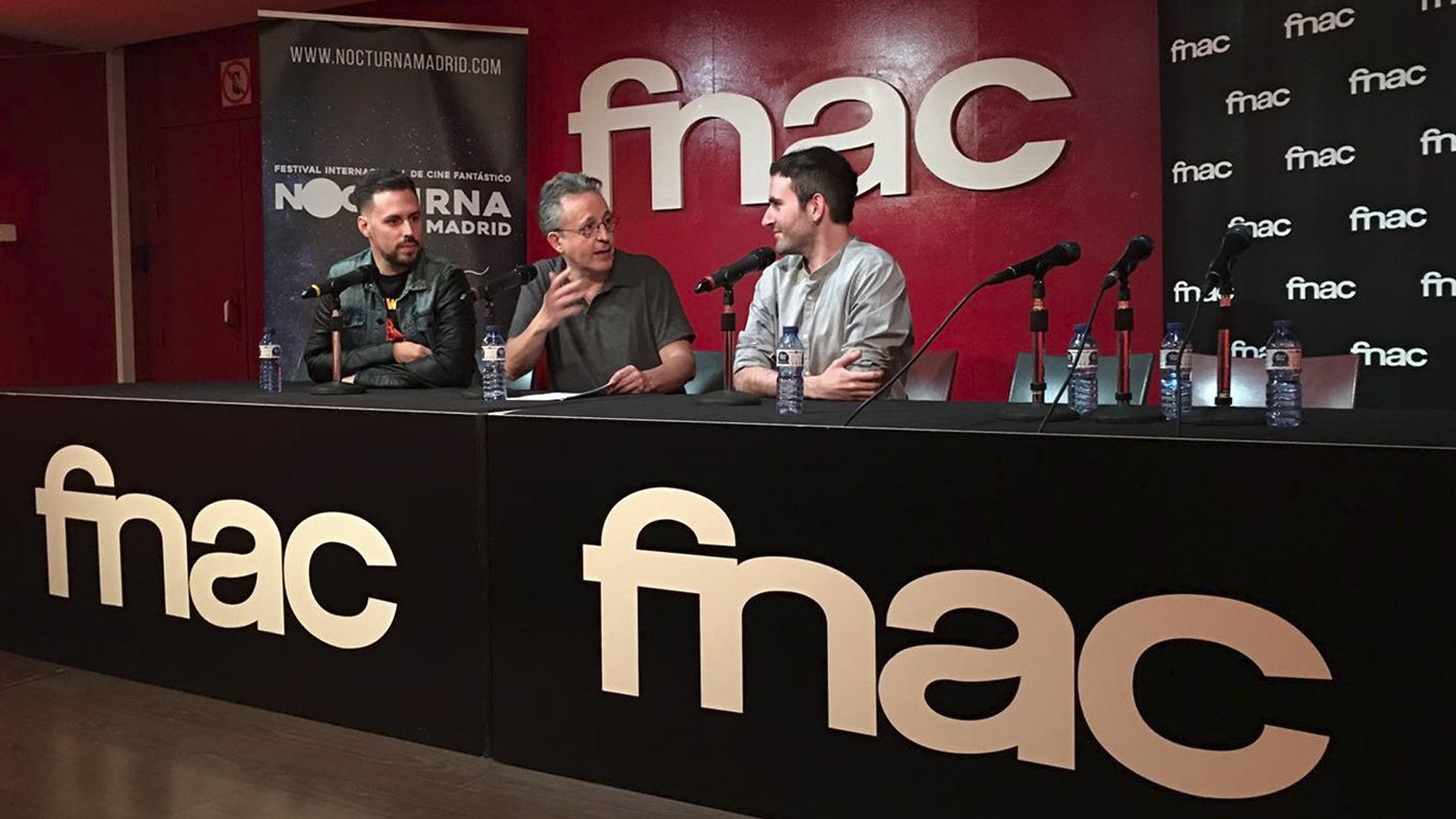 Filmmakers at the Nocturna festival in Madrid, at Forum FNAC Callao.