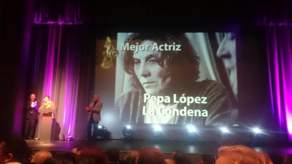 Mejor actriz Pepa Lopez Premio La Condena Marc Nadal