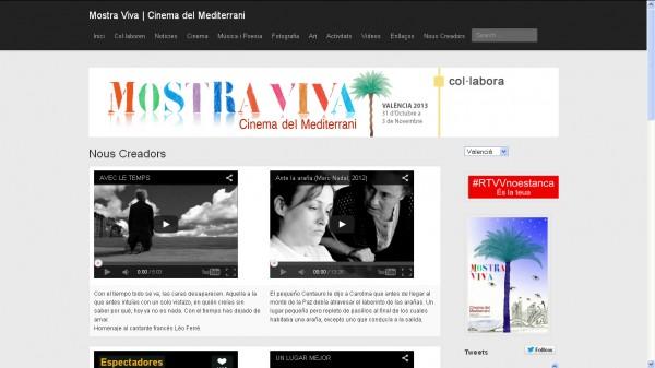 Ante la araña sección oficial de Mostra Viva / Cinema del Mediterrani 2013 (España).
