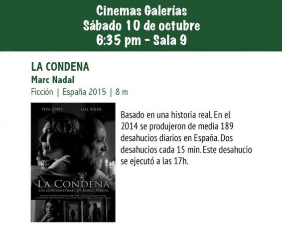 La condena Sección Oficial de la 7ma Muestra de Cine Iberoamericano, Nicaragua 2015 Nicaragua