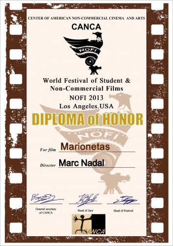 NOFI World Festival of Student & Non-commercial Films Marionetas Marc Nadal