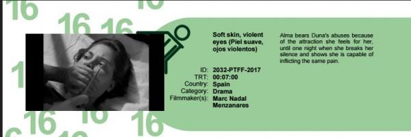 Piel suave, ojos violentos en la Sección Oficial del 16 Picture this film festival