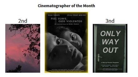 """""""Piel suave, ojos violentos"""" Premio Mejor Fotografía en 12 Months Film Festival (Rumania)."""