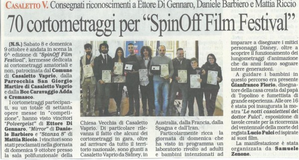 Sección Oficial SpinOff Film Festival (Italia).