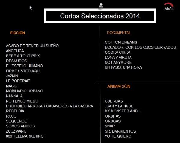 Sección Oficial VI Festival Internacional de Cortometrajes Pilas en Corto (España).