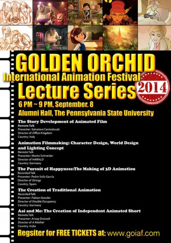 The Golden Orchid International Animation Festival 2014
