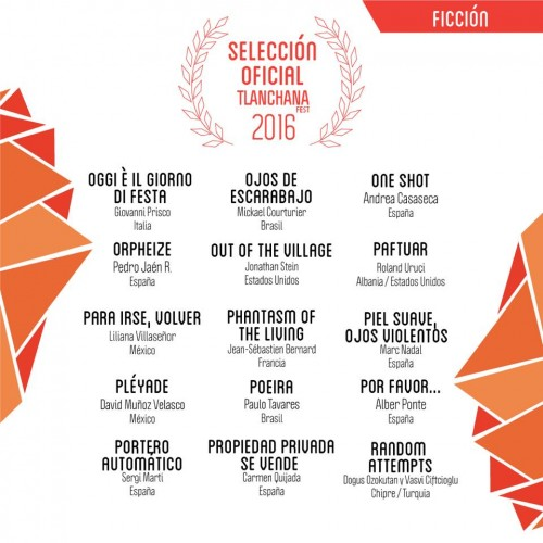 Sección Oficial de Tlanchana Fest Festival de Cine y Arte Digital (México).