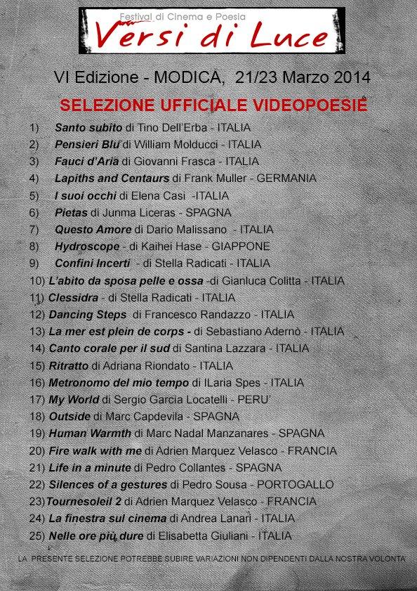 Videopoesia de Versi Di Luce Festival (Italia)